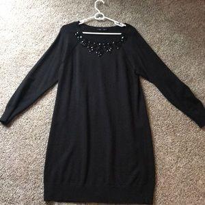Ann Taylor Jeweled Sweater Dress